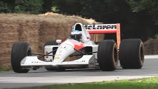 1991 McLaren MP4/6 F1 Sound - Honda 3.5 V12 Engine Screams at Goodwood