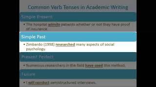 Academic writing verb tense popular course work editor site gb