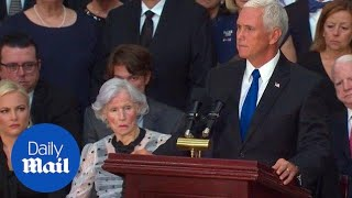 Mike Pence Pays Tribute To The Legacy Of John Mccain