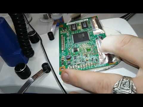 Телевизор Samsung LE32R81W - изображение в негативе, ремонт T-CON