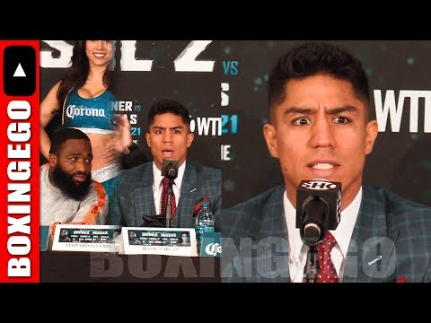 "HEATED!!!! JESSIE VARGAS GIVES BRONER THE EVIL EYE CRAZY STARE DEMANDS AB TO ""LOOK AT ME!!"""