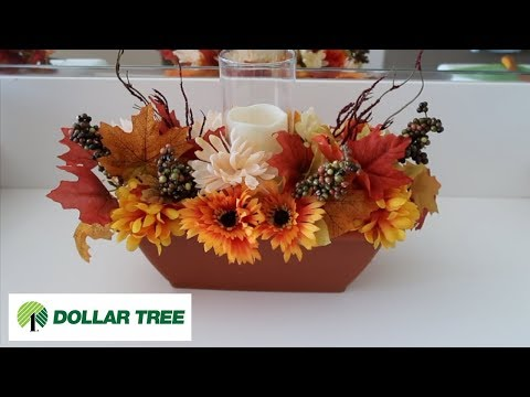 How To Make A Fall Centerpiece - Dollar Tree 2017