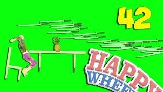 КАК УВЕРНУТЬСЯ ОТ 1000 МЕЧЕЙ ??? - Happy Wheels 42