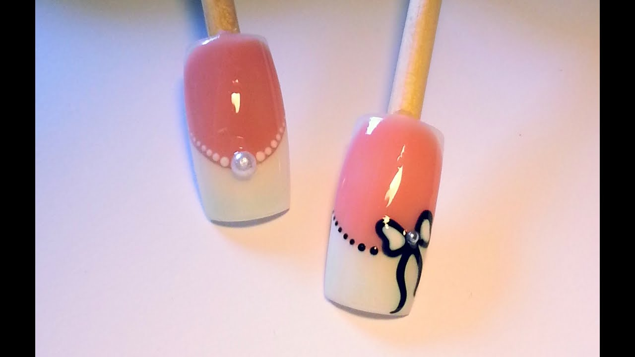 tutoriel nail art mariage 2 id es youtube. Black Bedroom Furniture Sets. Home Design Ideas