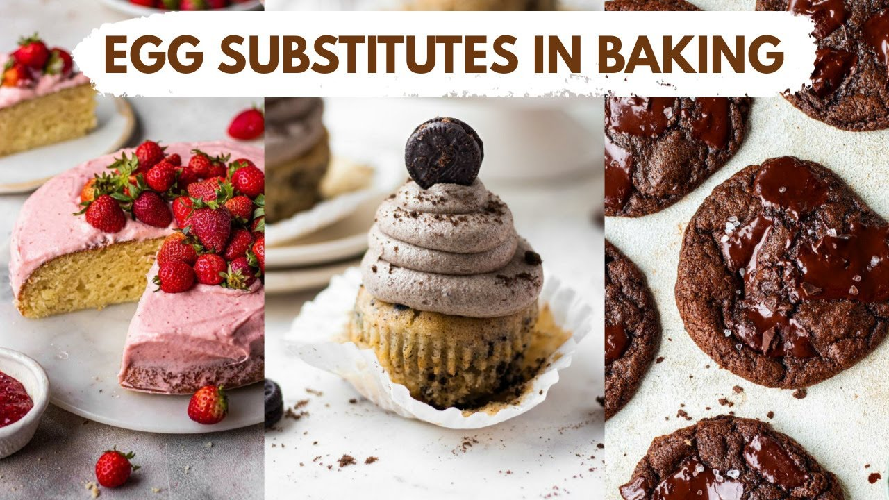 HOW TO SUBSTITUTE EGGS WHILE BAKING | BEST EGG SUBSTITUTES FOR BAKING AND HOW TO USE THEM