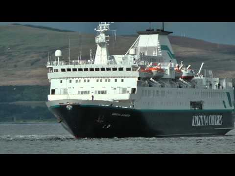 Kristina Katarina leaving Greenock 29/07/2012