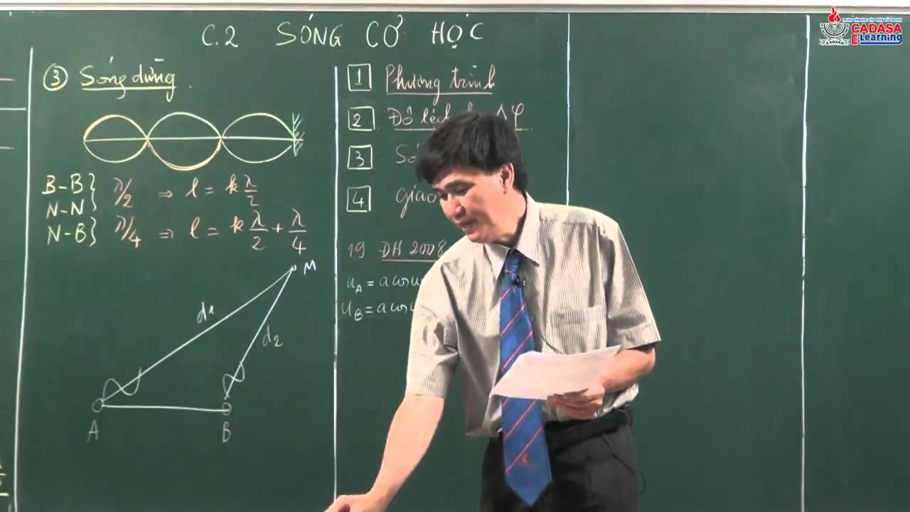 Chuyên đề ôn thi môn lý 2013 – sóng cơ học – Giao thoa sóng  – cadasa.vn
