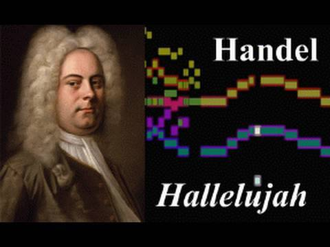 Handel, Hallelujah Chorus from Messiah (with scrolling bar-graph score)