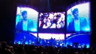 Crowd singing during Hunting High and Low A-ha