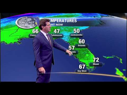 11pm Weather Forecast - January 10, 2017