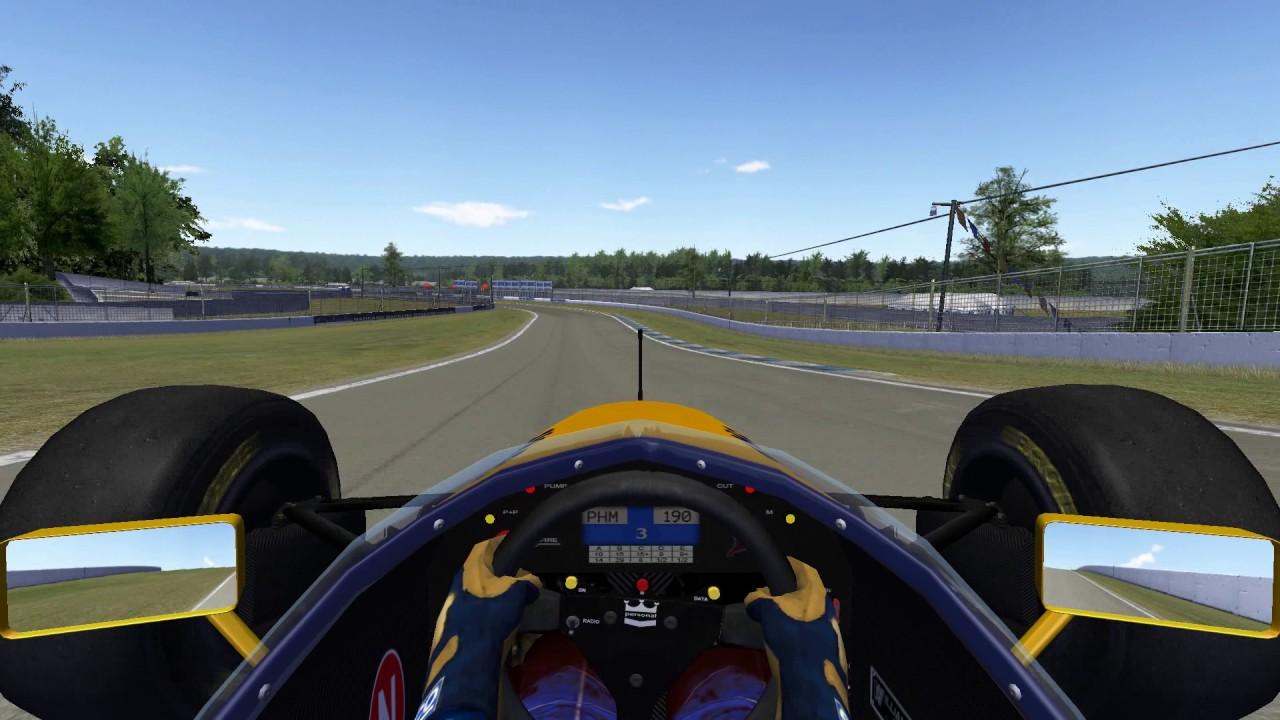Rfactor F1 1993 >> rFactor - F1 SR 1993 - Williams FW15 at Toban Short - YouTube