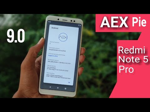 AospExtended (AEX) Pie 9 On Redmi Note 5 Pro - Released