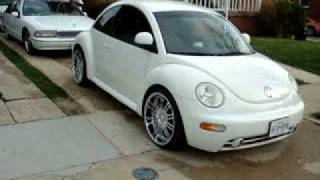 2nd video of 98 new beetle punch dub 20 inch rims 10inch sub