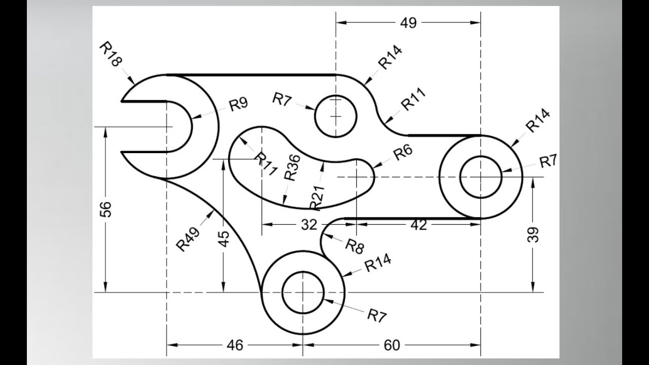 2d practice object in autocad YouTube