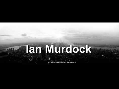 How to pronounce Ian Murdock in German