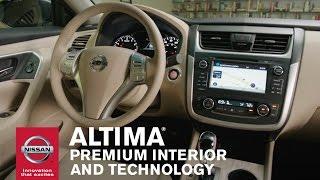 2016 nissan altima premium interior and technology