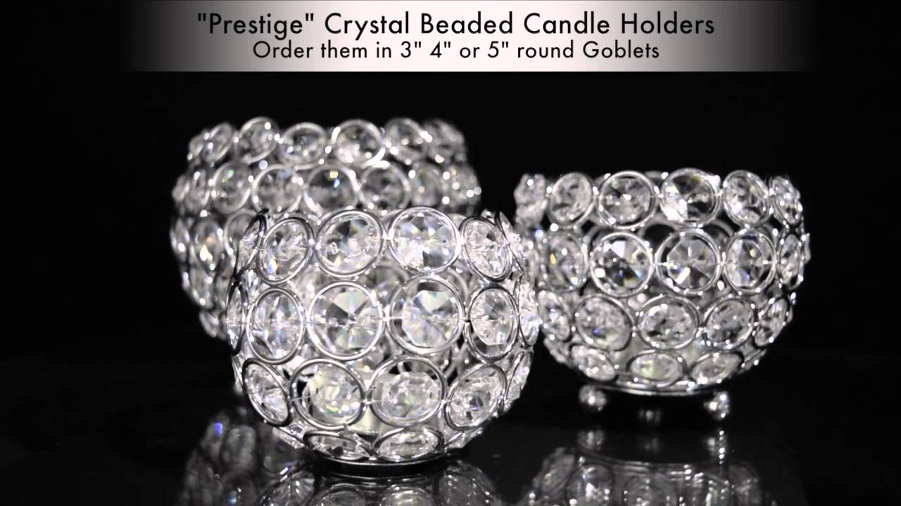 Prestige beaded crystals candle holders shopwildthings youtube reviewsmspy