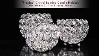 Prestige Beaded Crystals Candle Holders - ShopWildThings