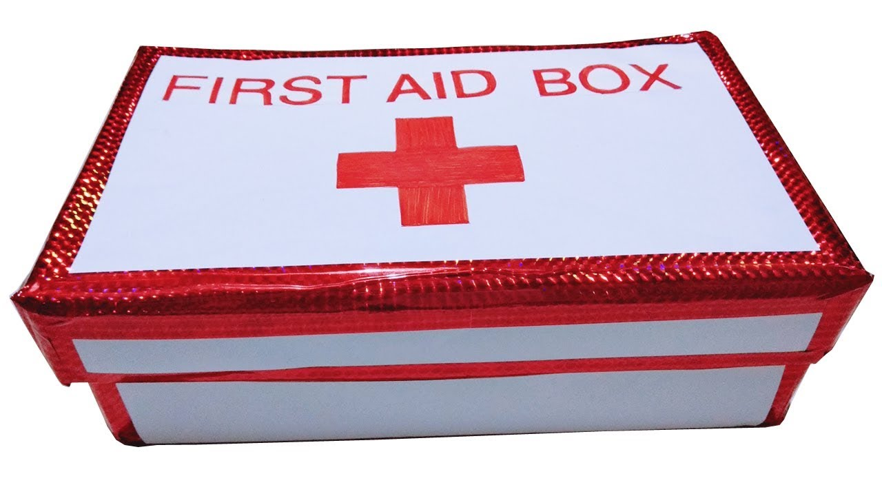 Make a First Aid Kit and Box/Best Out Of Waste/First Aid Kit For Kids/Reuse  of Shoe Box/Art Gallery