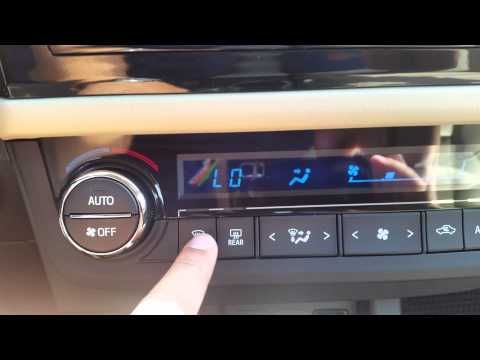 2015 toyota corolla heating and cooling system