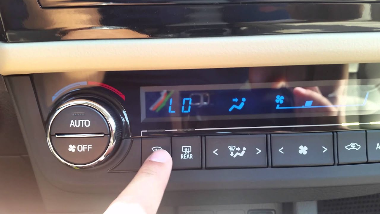 2015 Toyota Corolla Heating And Cooling System Youtube