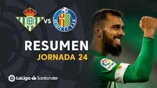 Resumen de Real Betis vs Getafe CF (1-0)