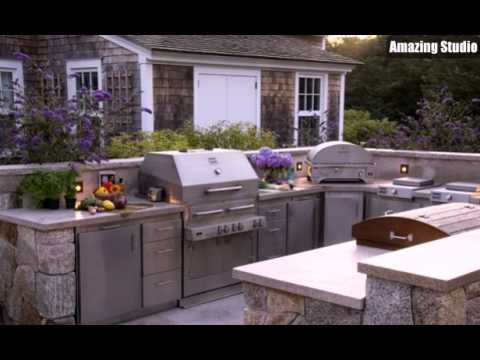 Outdoor kitchen designs cheap youtube for Affordable outdoor kitchen ideas