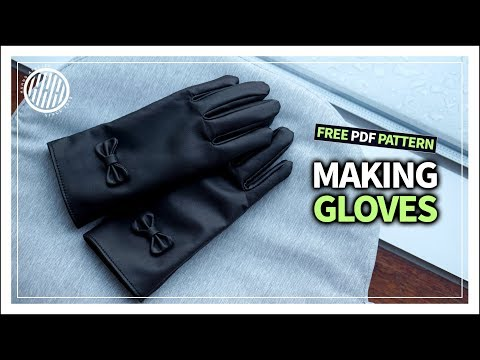 [Leather Craft] Making gloves /tutorial / free pdf pattern