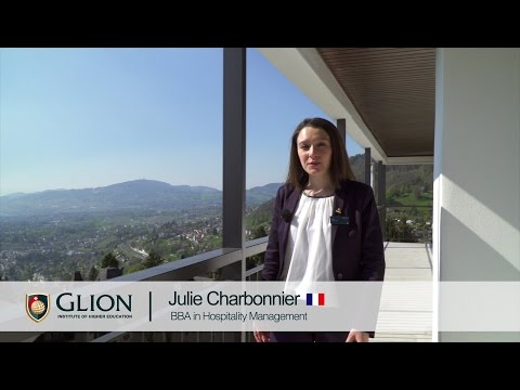Why did I choose Glion? Julie Charbonnier, France | in French