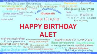 Alet   Languages Idiomas - Happy Birthday