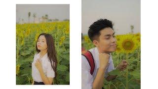 Thử thách mặc đồ học sinh đi chơi cánh đồng hoa hướng dương đầu tiên ở Sài Gòn cùng Huy và Hương
