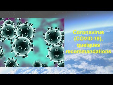 Coronavirus (COVID-19), quelques recommandations