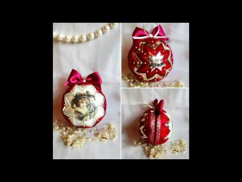 Romanian Victorian and Vintage-Style Christmas Ornaments (handmade)