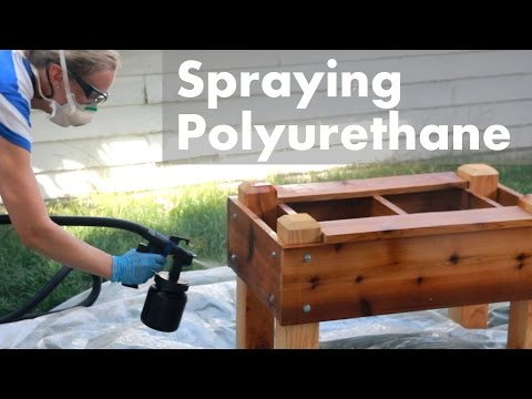 HVLP Spraying Polyurethane on Outdoor Projects