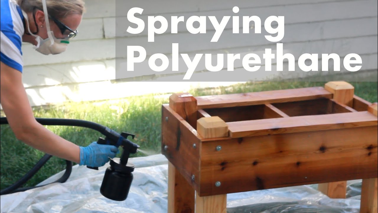 HVLP Spraying Polyurethane On Outdoor Projects   YouTube Part 70