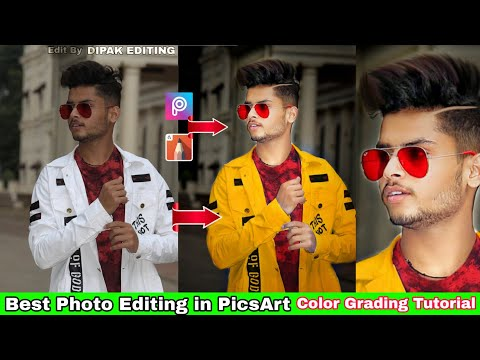 PicsArt Photo Color Grading & Face Glowing Tutorial | How To Change Your Dress Color in PicsArt thumbnail