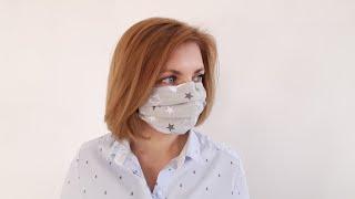 многоразовая защитная МАСКА для лица своими руками. Как сшить маску?