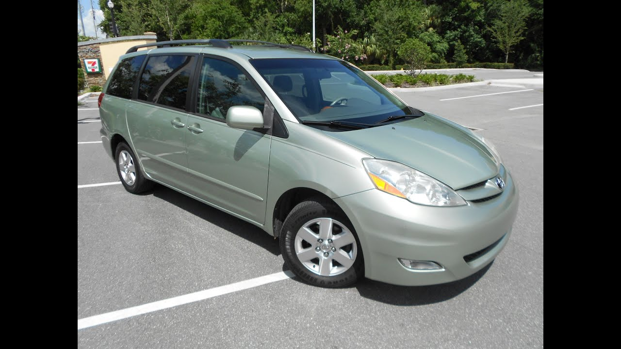 2006 toyota sienna xle carfax 1 owner no accidents florida van extra clean youtube. Black Bedroom Furniture Sets. Home Design Ideas
