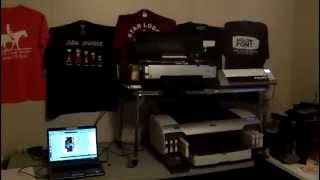 Printing a Custom T-Shirt using an Epson Stylus Pro 4800 and contour printer