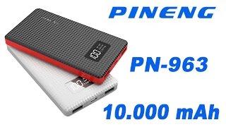 Переносной аккумулятор PINENG PN-963 10000mAh Power Bank обзор  и тестирование ёмкости