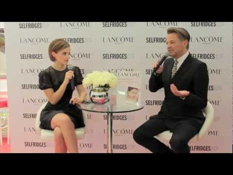 Emma Watson - Lancôme Rouge in Love collection at Selfridges