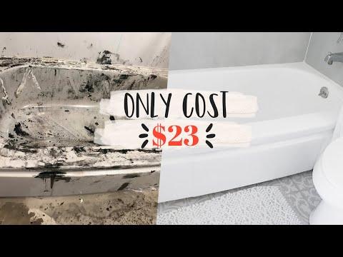 insane-bathtub-transformation-//-how-to-paint-your-bathtub-for-$23