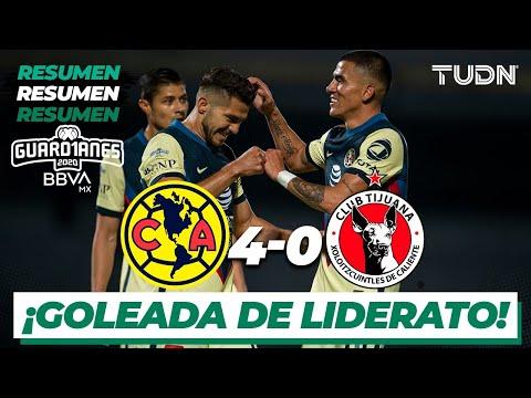Resumen y goles | América 4-0 Tijuana | Guard1anes 2020 Liga BBVA MX - J2 | TUDN