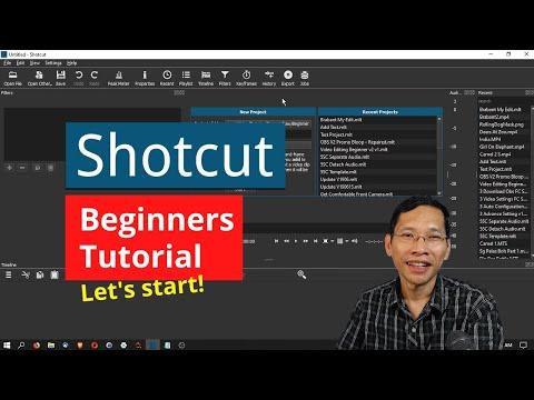 Shotcut Video Editor Tutorial For Beginners - Fast Start