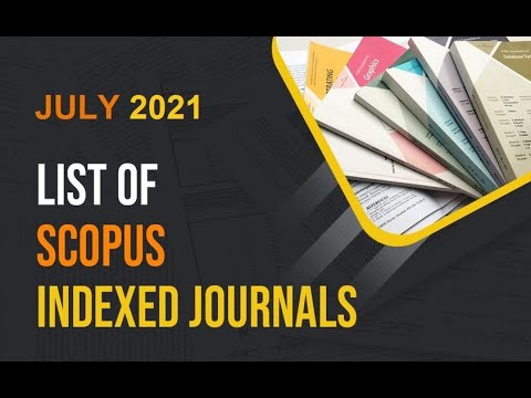 update scopus journal juley 2021 - YouTube