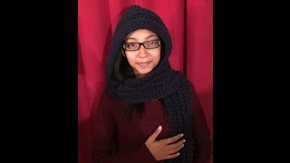 How To Crochet The Keep Me Warm Hooded Scarf Tutorial