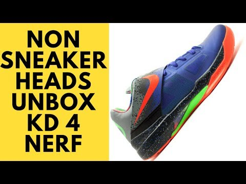 b063d91cba6b Nike Kevin Durant KD 4 Nerf Unboxing and Review by non Sneakerheads
