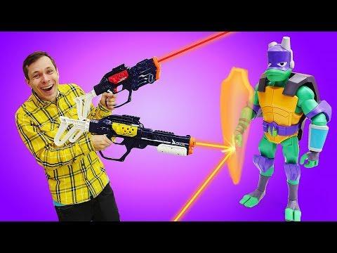 Веселые игрушки для детей. Новый бластер Lazer Mad! Видео игры для мальчиков.