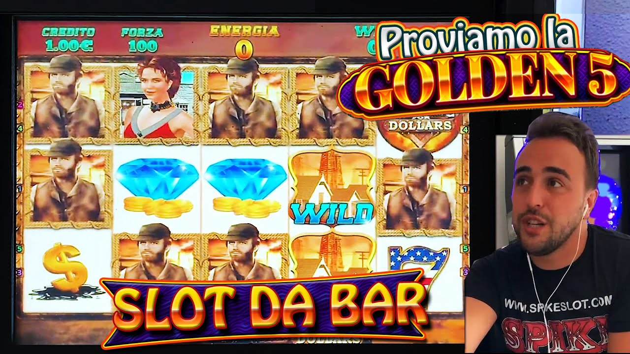 SLOT MACHINE DA BAR - PROVO LA GOLDEN 5 (Multigioco Cristaltec)