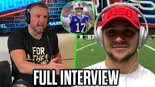 Pat McAfee & Josh Allen Talk Stefon Diggs, Changing His Throwing Motion, & More